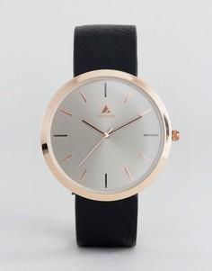 Темно-серые часы с золотистой отделкой ASOS - Черный