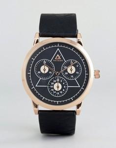 Часы с контрастным черным циферблатом и хронографом ASOS - Черный