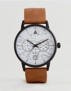 Часы с коричневым ремешком из искусственной кожи ASOS - Рыжий