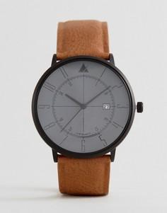 Часы с контрастным циферблатом и указателем даты ASOS - Коричневый