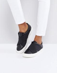Кроссовки-слипоны с эластичными ремешками London Rebel - Черный