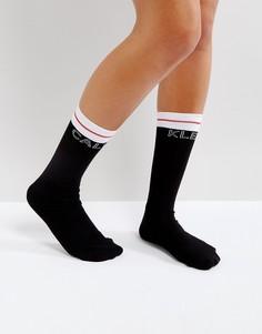 Носки с логотипом и добавлением хлопка Calvin Klein Moder - Черный