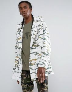 Длинная куртка с камуфляжным принтом Maharishi - Зеленый