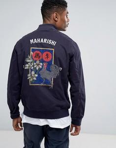 Куртка с вышивкой Maharishi Stadium - Темно-синий