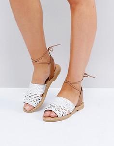 Кожаные сандалии Missguided - Белый