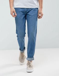 Синие выбеленные узкие джинсы Levis Line 8 - Синий