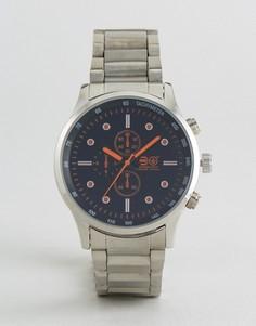 Часы с декоративными дополнительными циферблатами Crosshatch - Серебряный