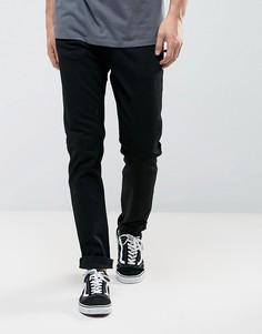 Черные выбеленные узкие джинсы Levis Line 8 - Черный