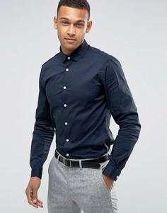 Темно-синяя узкая рубашка ASOS - Темно-синий