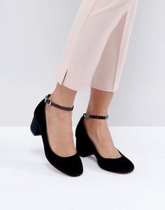 Туфли на блочном каблуке с ремешками вокруг щиколотки Faith Alexia - Черный