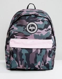 Рюкзак с камуфляжным принтом и контрастным карманом Hype - Мульти