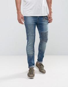 Темные супероблегающие джинсы ASOS - Синий