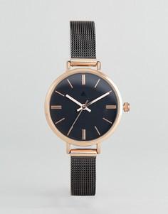 Часы с темно-серым сетчатым ремешком ASOS - Серый