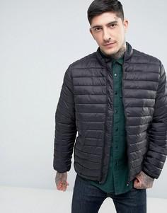 Черная стеганая куртка ASOS - Черный