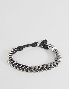Черный вощеный браслет-шнурок Icon Brand - Черный