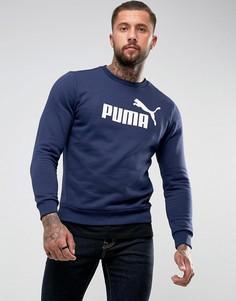 Темно-синий свитшот с круглым вырезом Puma ESS No.1 83825206 - Темно-синий