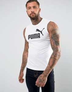 Белая майка Puma ESS No.1 83824002 - Белый