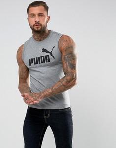 Серая майка Puma ESS No.1 83824003 - Серый