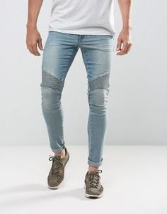 Светлые супероблегающие джинсы ASOS - Синий