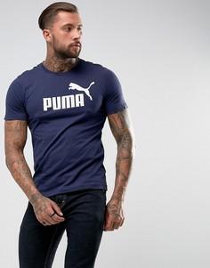 Темно-синяя футболка Puma ESS No.1 83824106 - Темно-синий