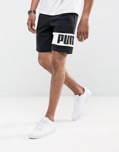 Черные трикотажные шорты Puma Rebel 59246501 - Черный