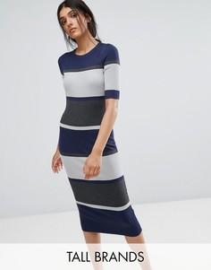 Облегающее платье миди Adpt Tall Sidewalk - Бежевый