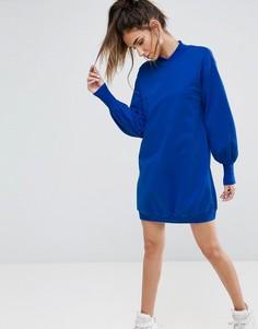 Свободное трикотажное платье ASOS - Синий