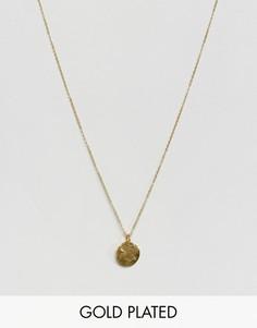 Ожерелье с круглой подвеской Ottoman - Золотой