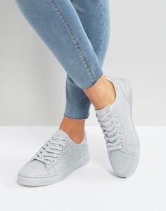 Блестящие кроссовки New Look - Серебряный