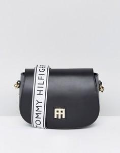 Кожаная сумка-седло с логотипом Tommy Hilfiger - Синий