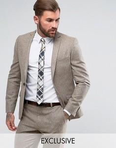 Приталенный пиджак в крапинку Heart & Dagger - Светло-серый