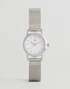 Часы с сетчатым ремешком ASOS - Серебряный