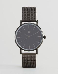 Часы с сетчатым ремешком ASOS - Серый