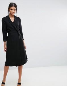 Платье в стиле блейзера с длинными рукавами Selected Violie - Черный