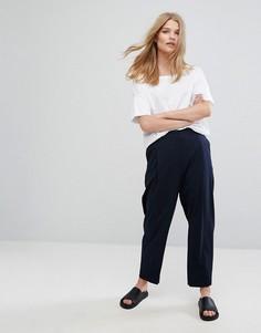Зауженные брюки Weekday - Темно-синий