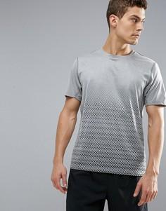 Серая футболка для бега с графическим принтом Puma 51555404 - Серый