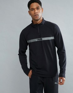 Черный эластичный свитшот на молнии Puma Running Active Tec 59423801 - Черный