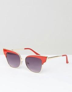 Солнцезащитные очки кошачий глаз в красной оправе AJ Morgan - Красный