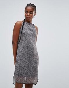 Платье на бретельках с принтом Bellfield - Серый