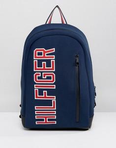 Темно-синий рюкзак с большим логотипом Tommy Hilfiger - Темно-синий