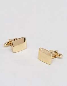 Позолоченные квадратные запонки ASOS - Золотой
