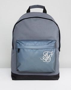 Серый рюкзак со светоотражающей вставкой SikSilk - Серый