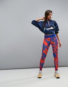 Леггинсы в горошек adidas Stella - Синий