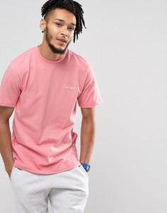 Розовая футболка с вышитым логотипом Carhartt WIP - Розовый