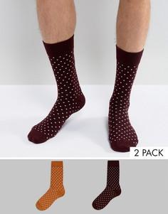 Набор из 2 пар носков в горошек Selected Homme - Мульти