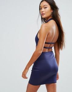 Облегающее платье с вырезами Glamorous - Темно-синий