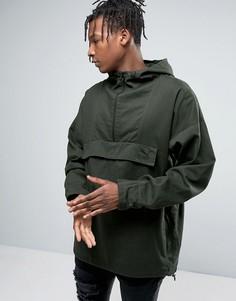 Куртка без застежки с капюшоном Puma - Зеленый