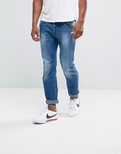Выбеленные узкие джинсы Diesel Belther 841E - Синий