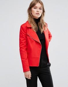 Красная байкерская куртка Helene Berman - Красный