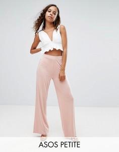 Широкие брюки ASOS PETITE - Коричневый